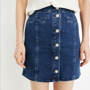 Madewell Stretch Denim Straight Mini Skirt - NWT